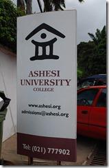 Ashesi University Sign